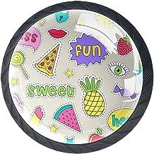 Lade knoppen ronde kast handgrepen trekken voor thuiskantoor keuken dressoir garderobe versieren,Vrolijke stickers Vectori...