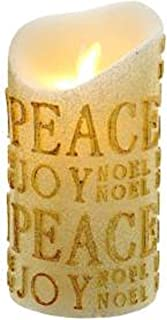 Kurt S. Adler 6-Inch Gold Flicker Flame Battery-Operated Candle, Multi