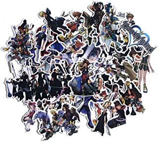 Kingdom Hearts Set of 50 Assorted Stickers Decal Set