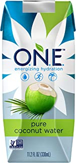 O N E Pure Coconut Water, Non-GMO Project Verified, No Added Sugar, Gluten Free, 11 2 Ounce (Pack of 12)