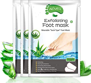 Foot Peel Mask - 3 Pack - For Cracked Heels, Dead Skin & Calluses-Make Your Feet Baby Soft- Removes & Repairs Rough Heels,...
