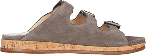 Gray Oiled Suede
