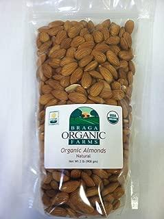 Braga Organic Farms Almonds, Natural, 2 Pound
