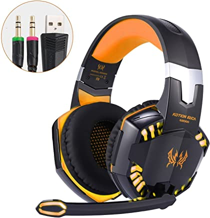 Cuffie PC Gaming Headset Microfono Virtual Surround Sound Cuffie da Gioco Gamer Stereo Bass LED Luce con Cancellazione del Rumore e Controllo del Volume per PS4 PC Laptop - Trova i prezzi più bassi