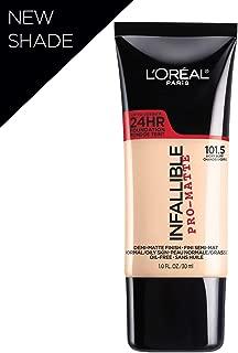 L'Oreal Paris Makeup Infallible Pro-Matte Liquid Longwear Foundation, Ivory Buff 101.5, 1 fl. oz.