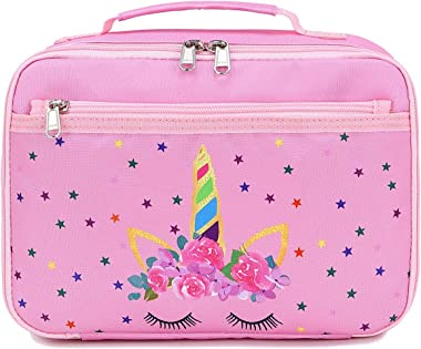 CAMTOP Kids Lunch Bag for Girls Boys Lunch Tote Insulated Lunch Container (Y0058 Unicorn Pink)
