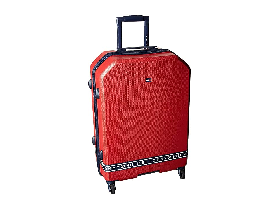 Tommy Hilfiger 25 Sneaker Sport Upright Suitcase (Red) Luggage