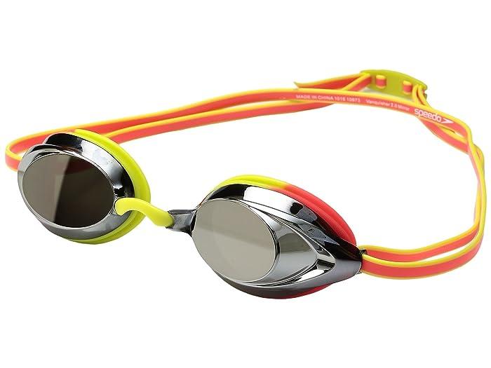 Speedo Vanquisher 2.0 Mirrored Goggle (Citrus Green) Water Goggles