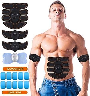 perfeclan 2 Piezas Smart Fitness Electroestimulador Muscular Abdominales Abdomen para Hombre//Mujer
