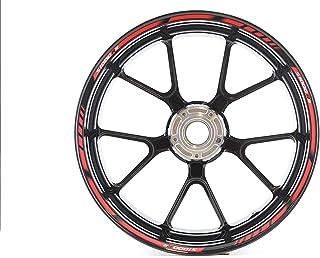 IMPRESSIATA Motosticker Kompatibel für Motorrad Felgenaufkleber SpecialGP Rot Komplett Aufkleber Aufkleber BMW S1000RR