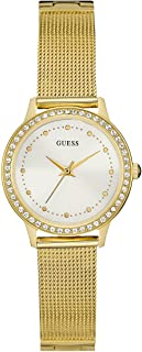 Guess Chelsea Women's White Dial Stainless Steel Band Watch - W0647L7
