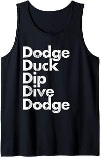 Dodge Duck Dip Dive Dodge Dodgeball Tank Top