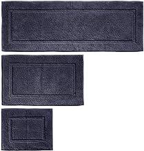 mDesign 100% Cotton Luxury Spa Mat Rugs, Plush Water Absorbent, Decorative Border - for Bathroom Vanity, Bathtub/Shower, M...