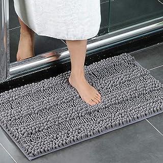 XIYUNTE Bath Mat Non Slip - 20 x 32 inch (50 × 80cm) Soft Chenille Doormats Bathroom Rugs Absorbent Shower Rugs Machine-Wa...