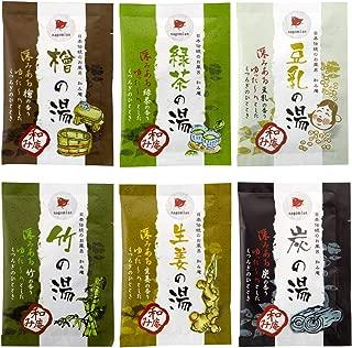 Luxury Hot Springs Onsen Series - Japanese Traditional Spa Bath Salt 6 Pack
