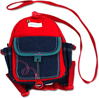 Toddler Backpack with Leash Never Lets Your Kids Get Away! Cute Child Safety Harness Bag for Pre-School! Keeps Essential Items Ready for Childcare! Great for Boys and Girls ! (Blue Red)