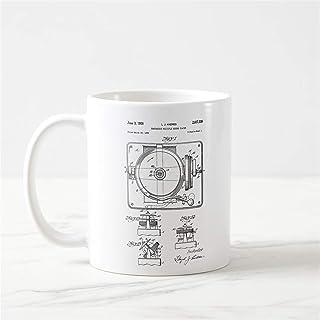 Record Player Patent Mug DJ Gift Dj Mug Gifts for Dj Dj Music Mug DJ Themed Gift Dj Women Dj Men Dj Coffee Mug DJ