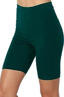 TheMogan Women's Mid Thigh High Waist Cotton Jersey Short...