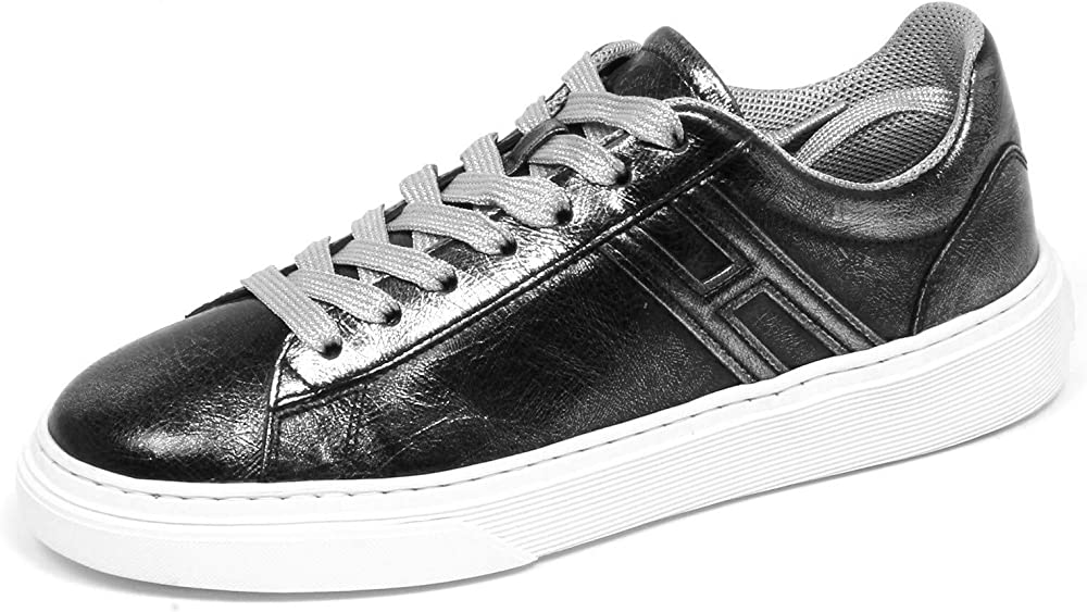 Hogan sneakers donna dark vintage effect in pelle H365