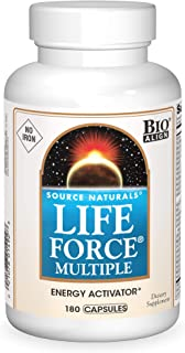 Source Natural Life Force Multiple - NO Iron - Energy Activator - 180 Capsules