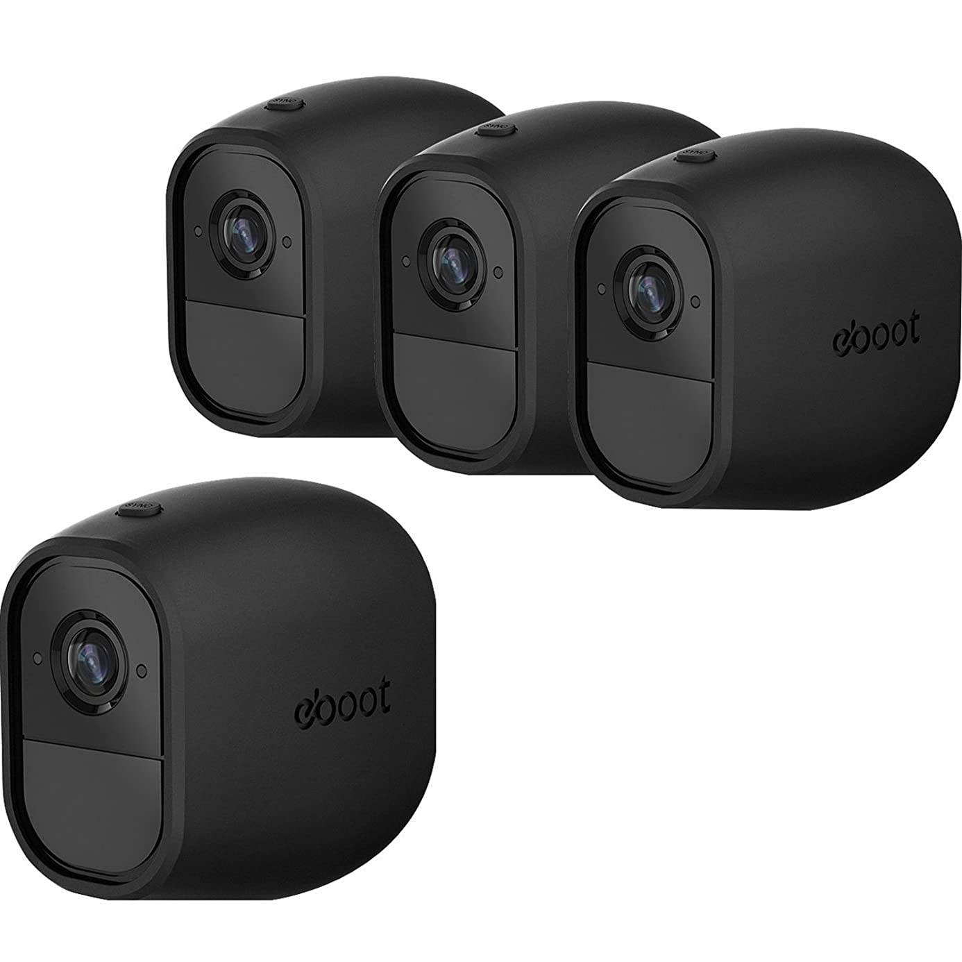 Silicone Skins Cover Protective Skin for Arlo Pro, Arlo Pro 2 Smart Security Wire-Free Cameras (4 Pack, Black)