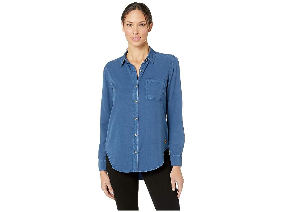 tentree Fernie Long Sleeve Button Up EV2 (Dark Denim) Women