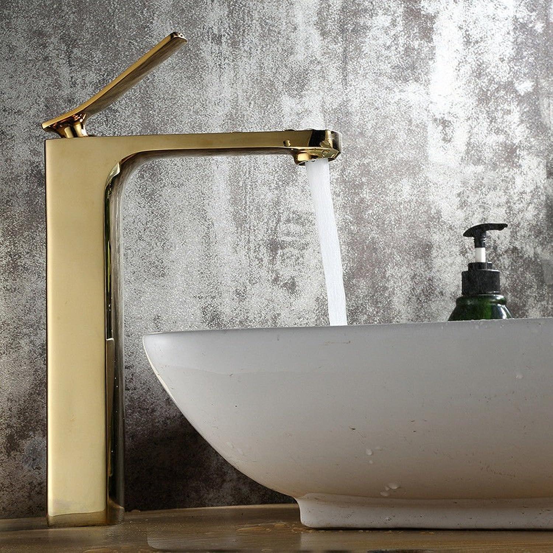 AQMMi Waschtischarmatur Wasserhahn Waschbecken Einhebelsteuerung, Warmes Und Kaltes Wasser Kupfer Messing Armatur Badarmatur Mischbatterie Waschbeckenarmatur