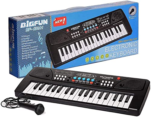 SVE 37 Key Bigfun Piano Keyboard Toy for Kids with Mic Recording Dc Power Option Charger not Included Musical Instruments Keyboard