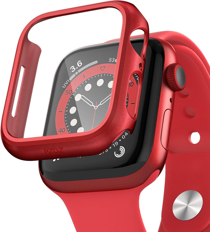 Apple Watch Series 4/5/6 Case Y Film Pet Protector 44mm Rojo