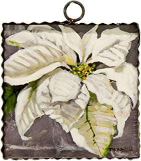 The Round Top Collection White Poinsettia of Christmas - Wood & Metal