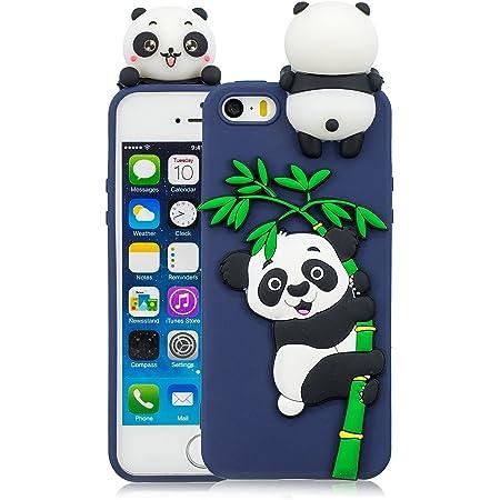 HopMore Cover iPhone 5S / SE / 5 Silicone Disegni 3D Divertenti ...
