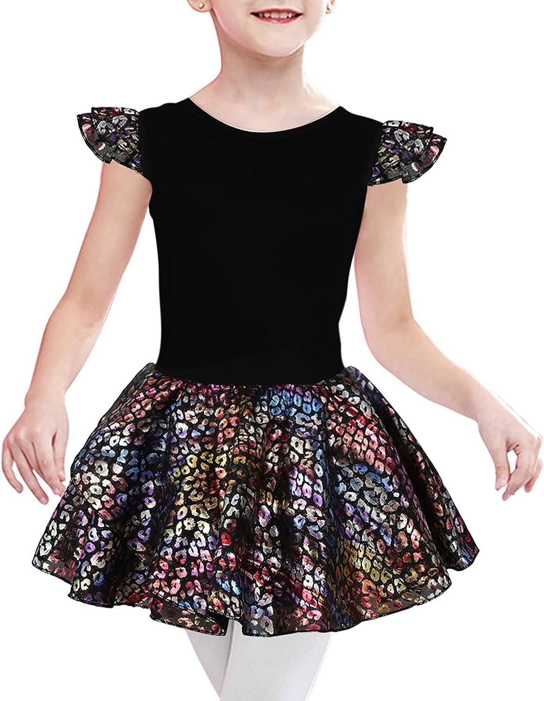 Girls Ballet Dance Dress Direct sale of manufacturer Leotards Skirt with Print Leopard Luxury goods
