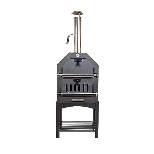 La Hacienda Multifunction Wood Fired Oven, Black, 56173