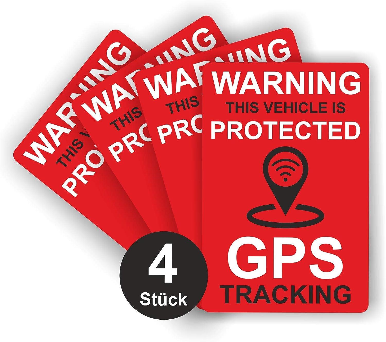 Gps Tracking Aufkleber Rot Glänzend 60 X 40 Mm Sticker Für Fahrrad Motorrad Und Auto Außenklebend Auto