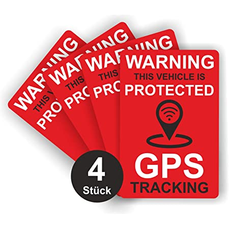 Aufkleber,Alarmgesichert,GPS,Überwachung,Alarm,Anlage,Tracking Control 9X9cmVA26