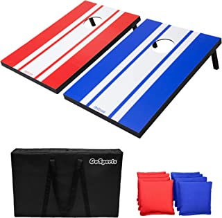Best GoSports Classic Cornhole Set - Includes 8 Bean Bags, Travel Case and Game Rules (Choose between American Flag, Football, Rustic, Chevron, Wood and Classic Designs) Review