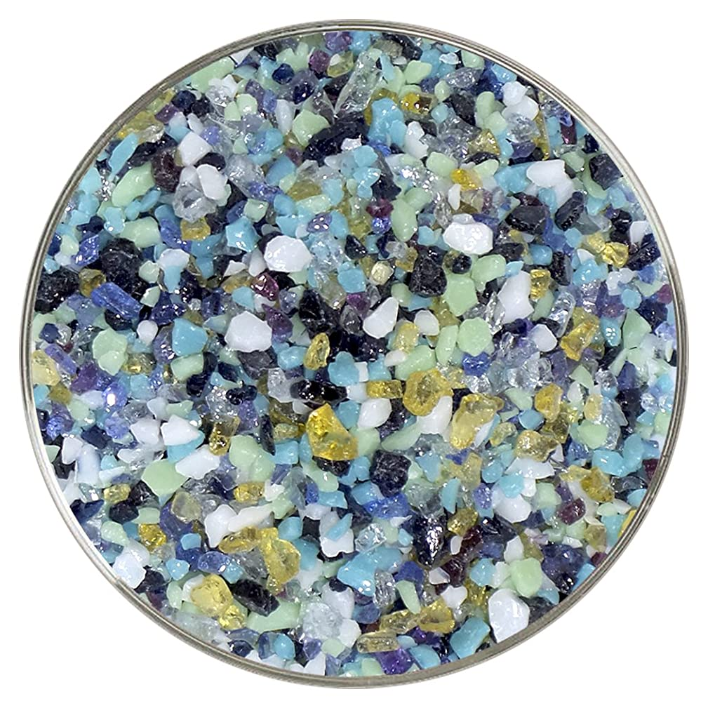 Siren of The Sea Designer Fusible Glass Coarse Frit Mix - 4oz - 90COE - Made from Bullseye Glass