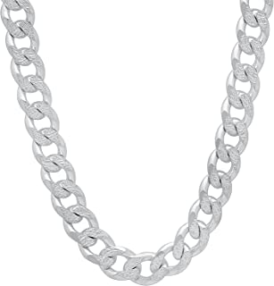 Designer Inspired 8mm Thick Silver Curb Chain Necklace Sterling 925 22""