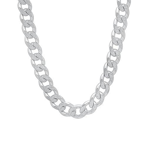 69e67d190470b Solid Silver Mens Chain: Amazon.co.uk