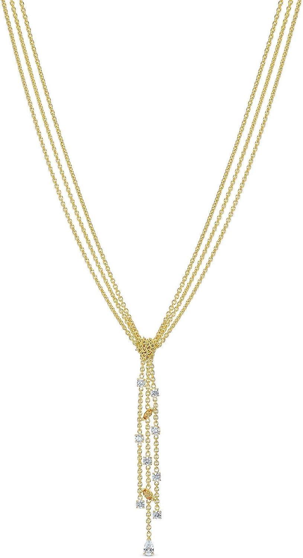 SWAROVSKI Crystal Botanical Y Necklace, Gold-Tone