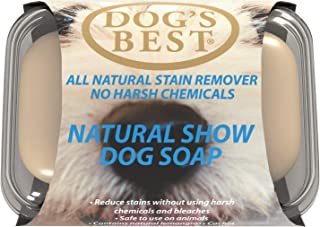 Dog's Best Natural Show Dog Bar Soap 100g | Reduces stains without harsh chemicals | Pet Odour Eliminator & Deodoriser | E...