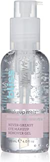 Bliss - Makeup Melt Never-Greasy Eye Makeup Remover Gel | Cooling & Soothing Gel for Eye Makeup Removal | Hydrating Eyelid Cleanser & Mascara Remover | Vegan | Cruelty Free | Paraben Free | 4.0 fl.oz.