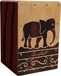Sawtooth Harmony Series Hand Stained Elephant Design Travel Size Cajon