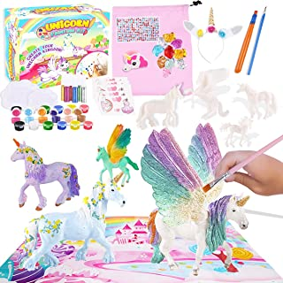 FunzBo Unicorn Painting Toys for Girls - Art and Crafts DIY Glitter Supplies Idea for Kids Toddlers Boys Girl Ages 4 5 6 7...