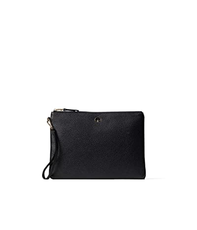 Kate Spade New York Polly Large Pouch Wristlet (Black) Handbags