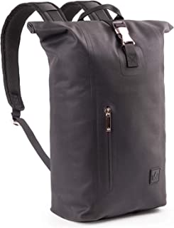 The Friendly Swede Slim Rolltop Laptop Backpack - Waterproof TPU, Commuter Backpack