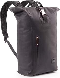 The Friendly Swede Slim Rolltop Laptop Backpack - Waterproof TPU, Commuter Backpack