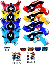 Infrared Laser Tag Guns Set of 4 Players with 4 Guns 4 Vests 4 Tactical Masks 4 Protective Glasses Laser Tag Gun Toys for Indoor Outdoor Game Gift for Boys Girls