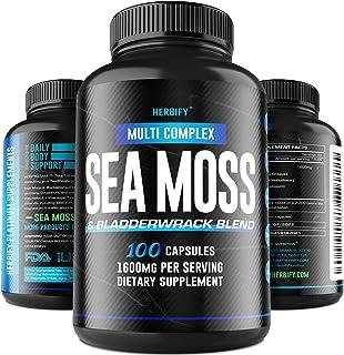 HERBIFY Irish Sea Moss Capsules - Organic Bladderwrack, Burdock Root and SeaMoss Pills 1000mg - Restore for Gut Health, Su...