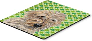 Caroline's Treasures Golden Doodle 2 Lucky Shamrock St. Patrick's Day Mouse Pad/Hot Pad/Trivet (SC9739MP)